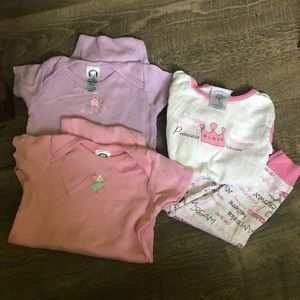 Girls 18mo Set Of 2 Onesie And Pj set